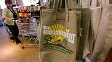 Reusable bags sold at a Whole Foods store (David McNew/2008 Getty Images)