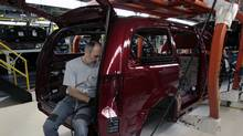 Hundreds of thousands of Canadian manufacturing jobs have been lost over the past few years of the loonie's rise, and the auto industry has been hit especially hard. (Rebecca Cook /Reuters/Rebecca Cook /Reuters)