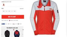 "The North Face parent company has agreed to make a 'significant donation' to the Canadian Olympic Committee after selling misleading apparel. Some of the clothing was decorated with the Canadian flag (or other team colours in other countries), and sometimes featured a patch with the symbol ""RU 14"" – a reference to the Winter Games in Sochi, Russia. Other merchandise showed a world map with a red star where Sochi is located. A T-shirt featured the date of the opening ceremonies; ""07.02.2014."" (The North Face website)"