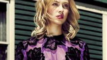 Muse to Cronenberg père et fils, breakout Canadian actress Sarah Gadon shows off this season's richly embellished looks. Embroidered Christopher Kane dress, price upon request at the Room (www.thebay.com). (Edwin Tse for The Globe and Mail)