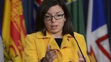 New Democrat MP Niki Ashton speaks on Parliament Hill in Ottawa on Jan 28, 2013. (Adrian Wyld/THE CANADIAN PRESS)
