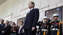 Philippines' President Benigno Aquino pays tribute as he looks at the names of soldiers fallen during The Korean War during his visit to The War Memorial of Korea in Seoul, in this Oct. 18, 2013 file picture. (KIM HONG-JI/REUTERS)