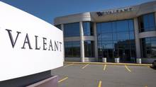 The head office and logo of Valeant Pharmaceutical are pictured in Montreal on Monday May 27, 2013. (RYAN REMIORZ/THE CANADIAN PRESS)