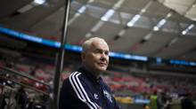 John Furlong attends at Major League Soccer game between the Vancouver Whitecaps and San Jose Earthquakes at BC Place in May 2012. Since November 2012, Furlong has fought allegations from a Georgia Straight article that he had abused students while teaching in Burns Lake, B.C. (Rafal Gerszak For The Globe and Mail)