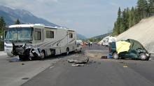 Nobody sets out on that Friday afternoon not planning on going back to work on Tuesday. Here, RCMP investigate a horrific long-weekend crash on a British Columbia highway that left six people dead when a minivan carrying six people crossed into oncoming traffic east of Golden, B.C., on Aug. 2, 2010 and smashed head-on into a motorhome. (The Canadian Press)