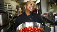 Carol Gray, chef at Sistering, prepares lunch at the women's agency which serves homeless, marginalized and low-income women in Toronto. (Kevin Van Paassen/The Globe and Mail/Kevin Van Paassen/The Globe and Mail)