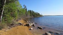 Pimachiowin Aki in northwestern Ontario and Manitoba has been proposed as a World Heritage Site because it is one of the last remaining intact portions of southern boreal forest. (Jeff Wells)