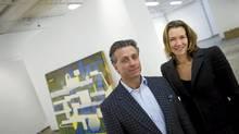 Samara Walbohn and Joe Shlesinger at their new gallery space, Scrap Metal. (Kevin Van Paassen/The Globe and Mail/Kevin Van Paassen/The Globe and Mail)