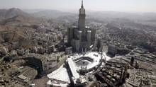 Fairmont Hotels and Resorts' 76-storey Makkah Clock Royal Tower hotel in Mecca overlooks the Grand Mosque and cube-shaped Kaaba. Closed to non-Muslims, the city poses special challenges for most Canadian firms and other international business. (AMMAR AWAD/REUTERS)