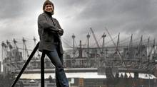 """Sandy Garossino who is part of the coalition """"Vancouver, Not Vegas"""" seen seen here in Vancouver Feb, 14, 2011with the new BC Place Stadium in the background where the new casino could go. (JOHN LEHMANN/JOHN LEHMANN/THE GLOBE AND MAIL)"""