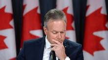 Bank of Canada governor Stephen Poloz appears at a press conference at the National Press Theatre in Ottawa on Wednesday, October 21, 2015. (Sean Kilpatrick/THE CANADIAN PRESS)
