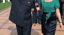 North Korean leader Kim Jong-un is shown with his wife, Ri Sol-ju, in July, 2012. (KCNA/REUTERS)