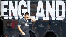 England's John Terry arrives for a training session in London Colney, north of London, September 3, 2012. (DARREN STAPLES/REUTERS)