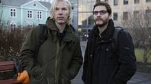 The Fifth Estate stars Benedict Cumberbatch (left) as Julian Assange and Daniel Bruhl as Daniel Domscheit-Berg. (Frank Connor/AP)