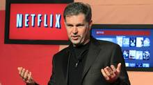 Netflix Chief Executive Officer Reed Hastings speaks during the launch of streaming internet subscription services for movies and television shows to televisions and computers in Canada, at a news conference in Toronto September 22, 2010. (MIKE CASSESE/REUTERS)