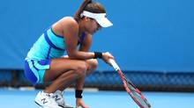 British tennis player Heather Watson cited 'girl things' to explain her poor performance in her first-round loss at this year's Australian Open. (Clive Brunskill/Getty Images)