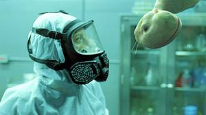 Sarah Polley in a lab scene from Splice.