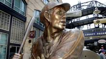 This June 29, 2006, file photo, shows a bronze statue of Pittsburgh native Josh Gibson in Legacy Square when it was unveiled at PNC Park. (Gene J. Puskar/AP)