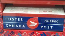 A Canada Post mailbox is shown handout photo from Global News in Montreal, March 1, 2012. (THE CANADIAN PRESS/THE CANADIAN PRESS)