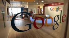 The Google logo is seen on a door at the company's office in Tel Aviv. (Baz Ratner/Reuters)