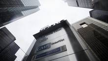 Signs for Home Trust Co., a subsidiary of Home Capital Group Inc., are seen outside the company's headquarters in Toronto. (Cole Burston/Bloomberg)