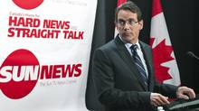 Quebecor chief executive Pierre Karl Peladeau announces the launch of Sun News at a Toronto news conference on June 15, 2010. (NATHAN DENETTE/THE CANADIAN PRESS)