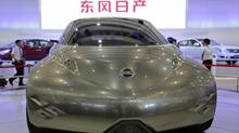 A Nissan Mixim concept car is exhibited at the Wuhan Motor Show, Hubei province, China, Oct. 12, 2012. (DARLEY SHEN/REUTERS)