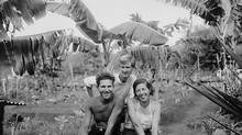 Baroness Eloise von Wagner with her lovers Robert Philippson and Rudolf Lorenz in The Galapagos Affair: Satan Came to Eden. (Waldo Schmidt/USC Special Collections / Zeitgeist Films)