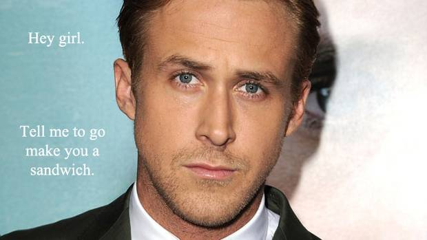 FEMINIST RYAN GOSLING— Is there anything better than a man who understands the struggles of women in today's society? Answer: no. In this meme collection Gosling will educate you on feminists like Hélène Cixous and Chandra Mohanty. And he totally wants to discuss Derrida's politics of sexual difference after he cooks you dinner. (http://feministryangosling.tumblr.com)