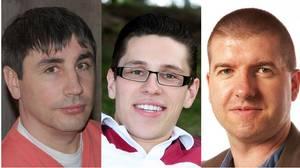 From left: Sasha Baksht, Nikolai Bratkovski and John Carson, the three principals behind Greenscroll.