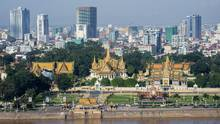 The Royal Palace, foreground, is seen in Phnom Penh, the capital of Cambodia. (iStock)