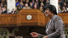International Co-operation Minister Bev Oda speaks during Question Period in the House of Commons on April 28, 2008. (CHRIS WATTIE)