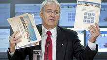 Liberal MP Marc Garneau speaks about Tory changes to the census during a news conference in Ottawa on July 14, 2010. (Adrian Wyld/THE CANADIAN PRESS)