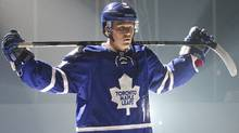 Toronto Maple Leafs' Jake Gardiner during team video taping on the first day of training camp at the Mastercard Centre in Etobicoke on September 11, 2013. (Deborah Baic/The Globe and Mail)