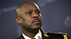 MarkSaunders, the Toronto Police chief designate, speaks to reporters while being introduced at a press conference in Toronto on Monday, April 20, 2015. THE CANADIAN PRESS/
