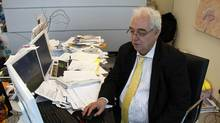 Hedge fund manager Otto Spork at his office on Bay Street, Toronto. (Fernando Morales/The Globe and Mail)