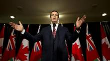 Ontario premier Dalton McGuinty speaks to the media following the Ontario Municipal Water Association's 2012 Drinking Water Leadership Summit in Toronto, Wednesday October 24/2012. (Kevin Van Paassen/The Globe and Mail)