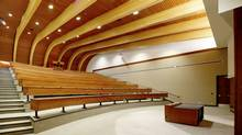 A new lecture theatre in the Jim Pattison Leadership Centre at the University of British Columbia's Sauder School of Business. (Acton Ostry Architects/Acton Ostry Architects)