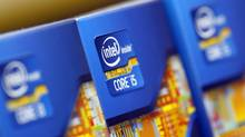 Intel processors are displayed at a store in Seoul June 21, 2012. (Reuters)