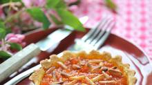 This dessert tomato tartlet also has honey and pine nuts. Tomato, honey and pine nut tartletsCC059Y Tomato, Honey and Pinenuts Tartlets Credit to Alamy (Alamy)