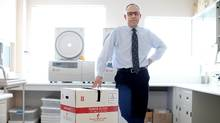 Graham Sher, CEO of Canadian Blood Services, says if Canada doesn't collect more plasma, it will be 90 per cent dependent on the U.S. market. (Dave Chan For The Globe and Mail)
