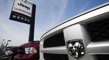 Trucks are seen at a Chrysler dealership in Toronto in this file photo. (MARK BLINCH/REUTERS)