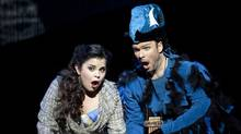 Magic Flute: Simone Osborne as Pamina and Joshua Hopkins as Papageno. (Tim Matheson)