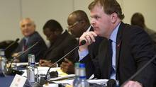 Canada's Foreign Minister John Baird attends a ministerial meeting on security in Northern Nigeria on the sidelines of the 'End Sexual Violence in Conflict' summit in London June 12, 2014. (POOL/REUTERS)