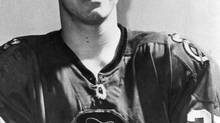 Doug Jarrett, Canadian-born defenceman in the National Hockey League with the Chicago Black Hawks. Photo published April 14, 1970.