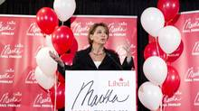 Martha Hall Findlay announces that she will be a candidate in the federal Liberal leadership race during a news conference in Calgary on Wednesday, Nov. 14, 2012. (Larry MacDougal/THE CANADIAN PRESS)