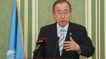 """U.N. chief Ban Ki-moon has called Israel's latest incursion """"atrocious,"""" and said it must do far more to protect civilians. (Mohammed Dabbous/Reuters)"""