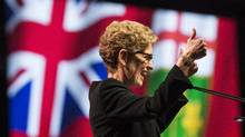 Ontario Premier, Kathleen Wynne speaks at the Ontario Liberal Party's 2014 Heritage Dinner in Toronto on March 20, 2014 (Mark Blinch For The Globe and Mail)