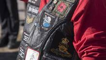 Veteran Kevin Prosper wears a memorial vest during the official unveiling of the Highway of Heroes Durham LAV Monument in Bowmanville, Ont. on Saturday, September 24, 2016. The decomissioned Light Armoured Vehicle monument and associated plaques honour the sacrifices of the men and women of the Canadian Armed Forces who participated in the Afghanistan Mission. (J.P. Moczulski for The Globe and Mail) (J.P. MOCZULSKI For The Globe and Mail)
