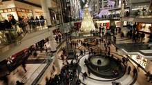 Businesses, such as those at the Eaton Centre, will be hoping to translate the Grey Cup into dollars. (Deborah Baic/The Globe and Mail)